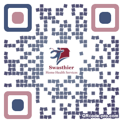 QR code with logo TEw0