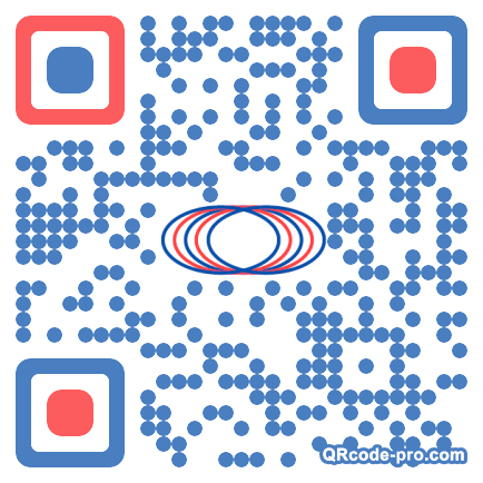 QR code with logo TFX0