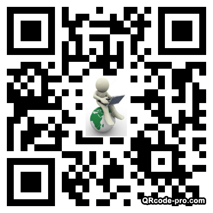 QR code with logo TFh0