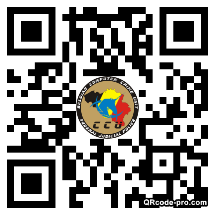 QR code with logo TJD0