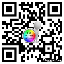QR code with logo TQK0