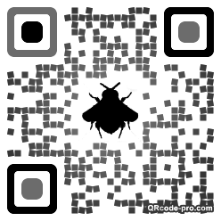 QR code with logo TUp0
