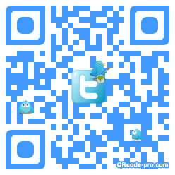 QR code with logo TX40
