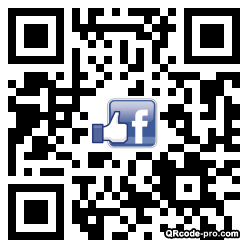 QR code with logo Thw0