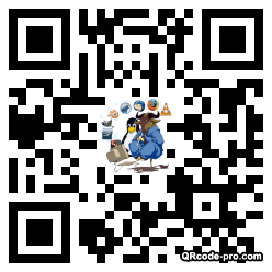 QR code with logo Tvh0