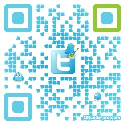 QR code with logo U3Y0