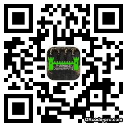 QR code with logo UIX0