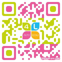 QR code with logo UKZ0
