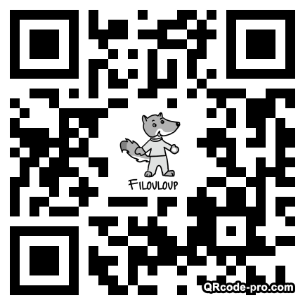 QR code with logo UPO0