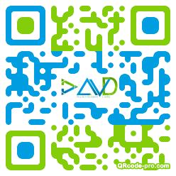 QR code with logo V990