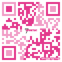 QR code with logo VDW0