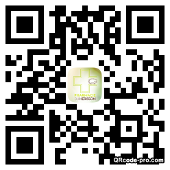 QR code with logo VPE0