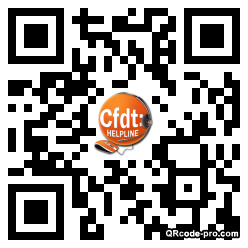 QR code with logo VVo0