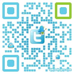 QR code with logo VX40