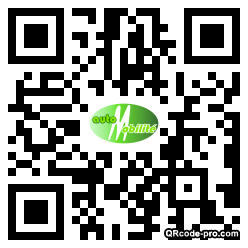 QR code with logo Vad0