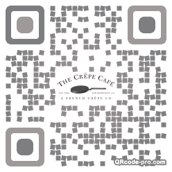 QR code with logo Vq80