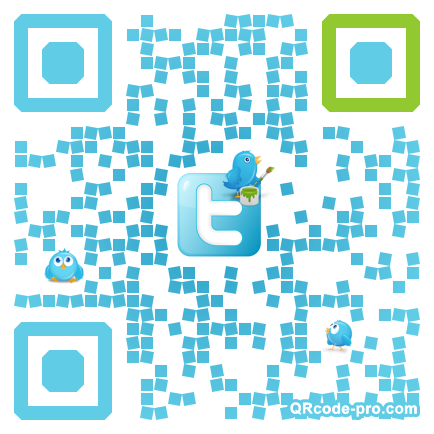 QR code with logo W2Q0