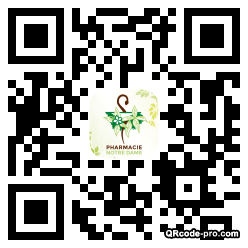 QR code with logo WC60