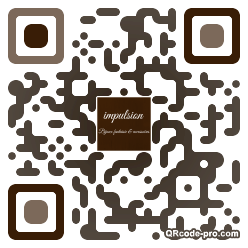 QR code with logo WHA0