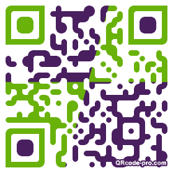 QR code with logo WTr0