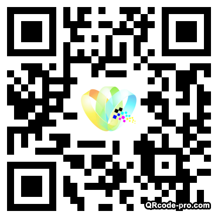 QR code with logo WeJ0