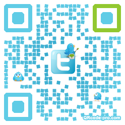 QR code with logo WxI0