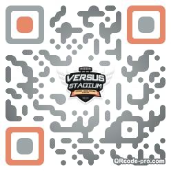 QR code with logo Wy90