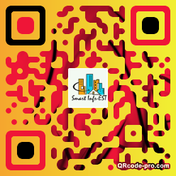 QR code with logo X190
