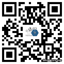 QR code with logo XBf0