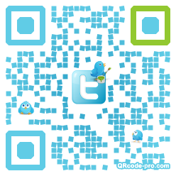 QR code with logo XCm0
