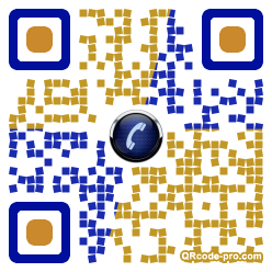 QR code with logo XPp0