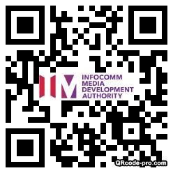 QR code with logo Xjm0