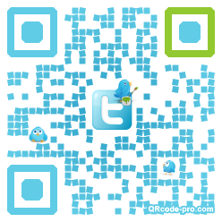 QR code with logo YJR0