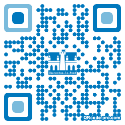 QR code with logo Yla0