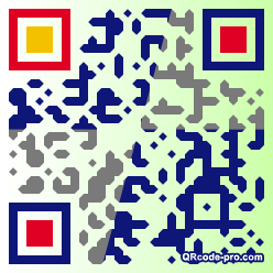 QR code with logo Yz10