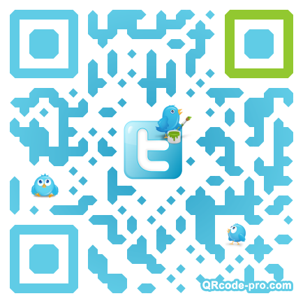 QR code with logo Zf40