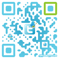 QR code with logo Zfa0