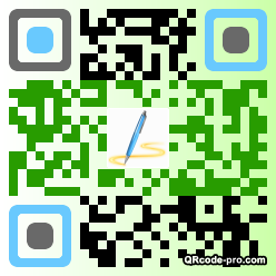 QR code with logo ZmV0