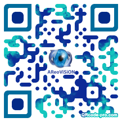 QR code with logo aGK0