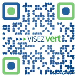 QR code with logo aRR0