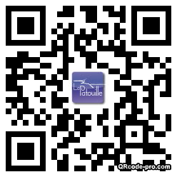 QR code with logo aUg0