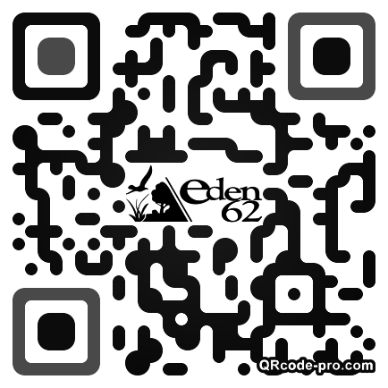 QR code with logo aXV0
