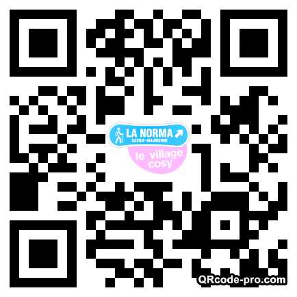 QR code with logo bXw0