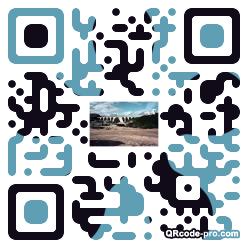QR code with logo cv80