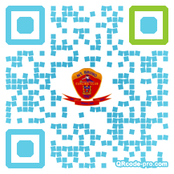 QR code with logo d400