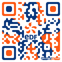 QR code with logo dNA0