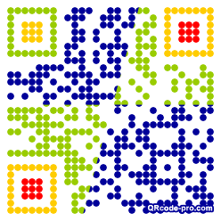 QR code with logo dRk0
