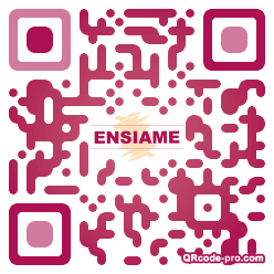 QR code with logo dmR0