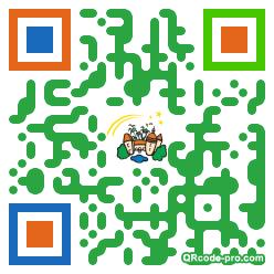 QR code with logo f880