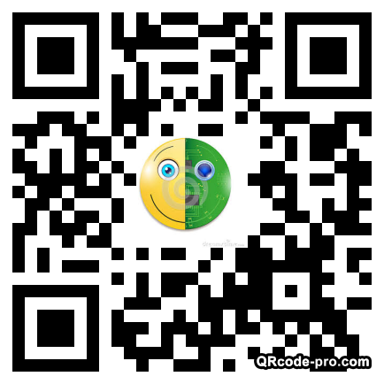 QR code with logo iNt0